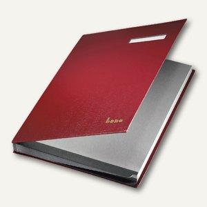 Bene Unterschriftenbuch DIN A4, Kunststoff, 18 Fächer, rot, 76400 RT
