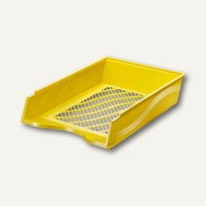 Bene Briefkorb DIN A4 - C4, stapelbar, Polystrol, gelb, 60100