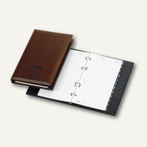 """Veloflex Telefonringbuch """"Exquisit"""", 145 x 225 mm, 4-Rund-Ringe, braun, 4150760"""