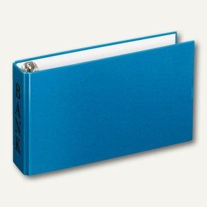 "Bankordner DinA6, ""Bank""-Prägung, Karton, 2-D-Ringe Ø 30 mm, blau, 10 Stück, 416"