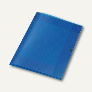 Veloflex Sammelmappe Crystal, DIN A4, PP, H 8 mm, transp. blau, 12 St., 4439250