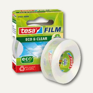 Tesa Film Eco & Clear Klebefilm, 33 m : 19 mm, 57043-00000