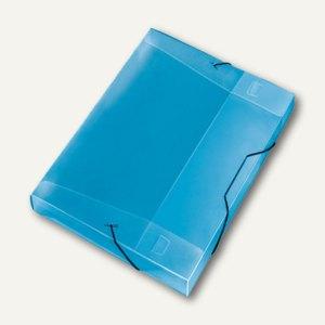 Veloflex Sammelbox Crystal A4, PP, 30mm Füllhöhe, transp. blau, 12 St., 4443250