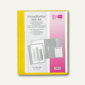 Veloflex Schnellhefter VELOFORM®, A4, PVC, glasklar/gelb, 10 Stück, 4741010
