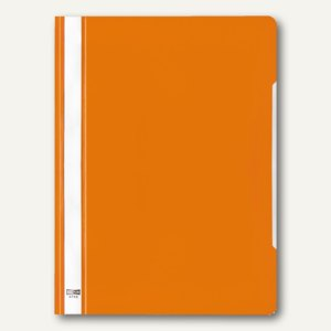 Veloflex Schnellhefter VELOFORM®, A4, PVC, glasklar/orange, 25 Stück, 4742030