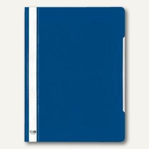 Veloflex Schnellhefter VELOFORM®, A4, PVC, glasklar/blau, 25 Stück, 4742050