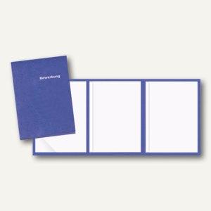 Veloflex Bewerbungsmappe, A4, Karton, 3-teilig, blau, 10 Stück, 4943050