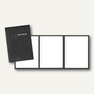 Veloflex Bewerbungsmappe, A4, Karton, 3-teilig, schwarz, 10 Stück, 4943080