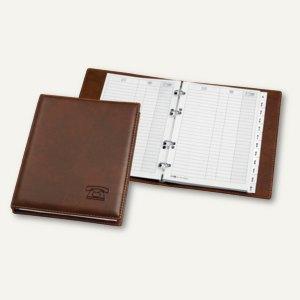 """Veloflex Telefonringbuch """"Exquisit"""", 182 x 225 mm, 4-Rund-Ringe, braun, 5158760"""
