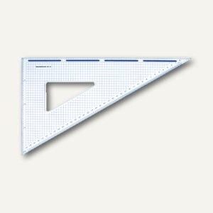 Rumold Zeichendreieck mit Schneidekante 60°, 36 cm, transp. Plexiglas, 685/36