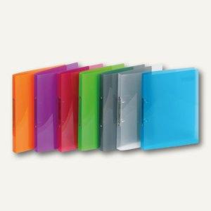 Ringbücher PROPYGLASS® Viquel A4, 2-Ringe Ø 20 mm, transparent-sortiert, 12 St.,