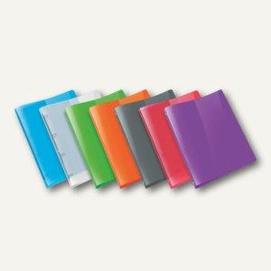 Ringbücher PROPYGLASS® Viquel A4, 4-Rund-Ringe Ø 20 mm, trans-sortiert, 12 St.,