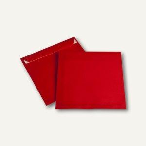 Briefhüllen haftklebend, 220 x 220 mm, transparent-intensivrot, 250 St.