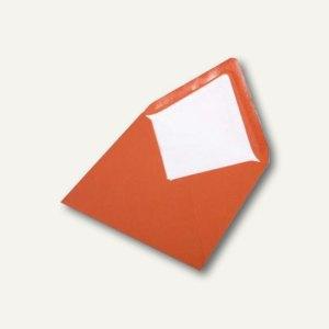 Briefumschlag mit Seidenfutter 164x164mm, nasskl., mandarin gerippt, 100 Stück,