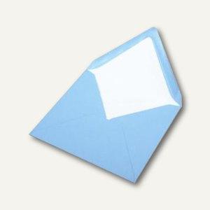 Briefumschlag mit Seidenfutter 164x164mm, nasskl., aqua gerippt, 100 Stück, 1640