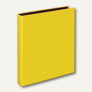 Ringbücher VELOCOLOR A4, Karton, 4 D-Ringe Ø 25 mm, gelb, 10 Stück, 1143310