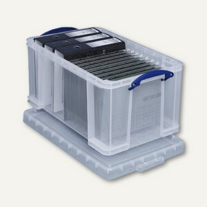Really Useful Box Aufbewahrungsbox 48 Liter, 545 x 330 x 289 mm, transparent,48C