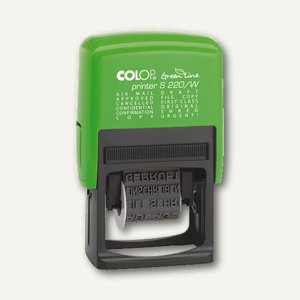 Colop Printer S 220/W GREEN LINE, Wortbandstempel, 4 mm, schwarz, 127786