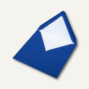 Briefumschlag mit Seidenfutter 164x164mm, nasskl., stahlblau gerippt, 100 Stück,