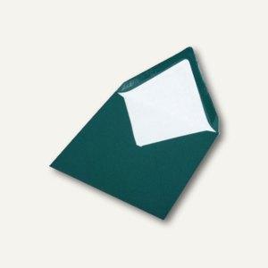 Briefumschlag mit Seidenfutter 164x164mm, nasskl., tannengrün gerippt, 100 Stück