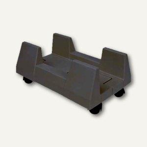 PC-Ständer, einstellbare Breite 12-24 cm, Kunststoff, schwarz, 4 St., 873135
