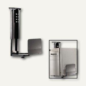 CPU-Halter Untertischmontage, Metall, 134-234mm, Stahl, schwarz, 2 Stück, 723127