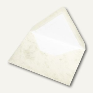 Briefhüllen mit Seidenfutter C6, nasskl., chamois marmora, 100 St., 16400506