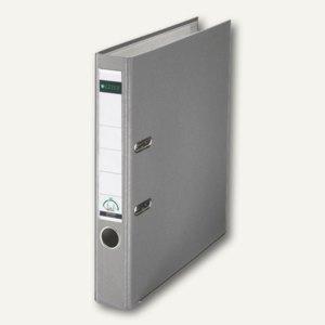LEITZ Kunststoffordner 180°, Rückenbreite 52 mm, grau, PP, 1015-50-85