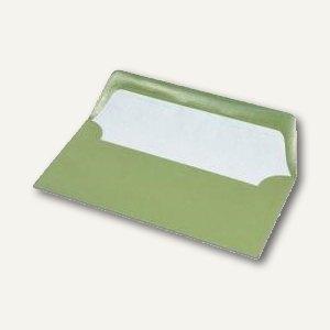 Briefumschläge mit Seidenfutter DL, 100g/m², oliv gerippt, 100 St., 16400269
