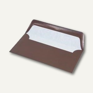 Briefumschläge mit Seidenfutter DL, 100g/m², chocolate gerippt, 100 St., 1640027