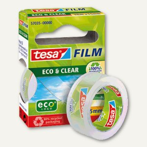Tesa Film Eco & Clear Klebefilm, 10 m : 15 mm, 57035-00000-00
