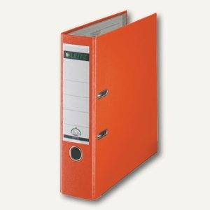 LEITZ Kunststoffordner 180°, Rückenbreite 80 mm, PP, orange, 1010-50-45
