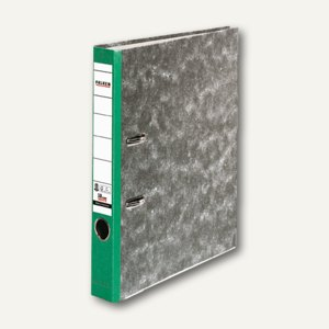 Falken Ordner Recycling, A4, Rücken 50 mm, Wolkenmarmorbezug, grün, 80023500