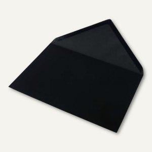 Briefumschlag DIN C5, Seidenfutter, nassklebend, schwarz matt, 100 St.,16401170