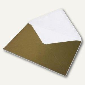 Versandtaschen DIN C5, nassklebend, gold, 100 Stück, 16401175