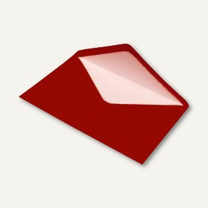Briefumschlag DIN C5, Seidenfutter, nassklebend, rot gerippt, 100 Stück, 1640113