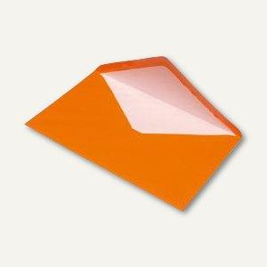 Briefumschlag DIN C5, Seidenfutter, nassklebend, orange gerippt, 100 St., 164011
