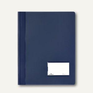 Durable Schnellhefter DURALUX A4+ 2680, transluzent-dunkelblau, 25 St., 2680-07