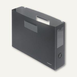 FolderSys Hängemappen-Trog mit Greifloch, PP anthrazit, 10 Stück, 3004134