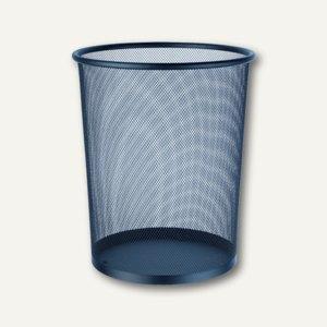 Alco Papier-Abfallsammler, rund, gelochtes Metall lackiert, schwarz, 2924-11