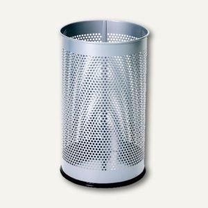 Alco Papierkorb aus Metall, 15 l, stabile Ausführung, silber, 2981-36