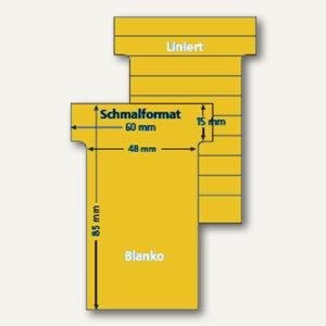 Ultradex T-Karten, liniert, Schmalformat, gold, 100 Stück, 542151