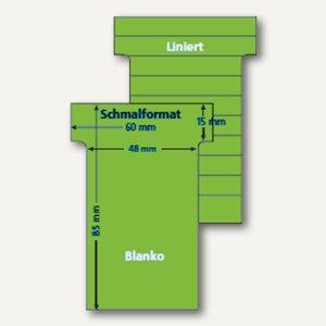 Ultradex T-Karten, liniert, Schmalformat, pistazie, 100 Stück, 542155