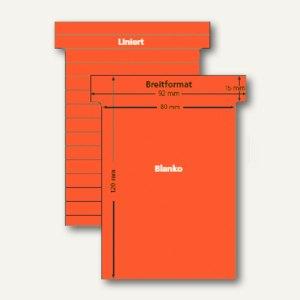 Ultradex T-Karten, liniert, Breitformat, ziegelrot, 100 Stück, 541153