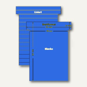 Ultradex T-Karten, liniert, Breitformat, karibikblau, 100 Stück, 541156