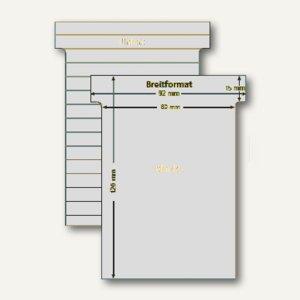 Ultradex T-Karten, liniert, Breitformat, hellgrau, 100 Stück, 541157