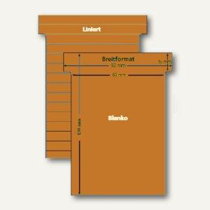 Ultradex T-Karten, liniert, Breitformat, gazellenbraun, 100 Stück, 541159