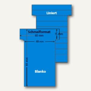 Ultradex T-Karten, blanko, Schmalformat, karibikblau, 100 Stück, 542256