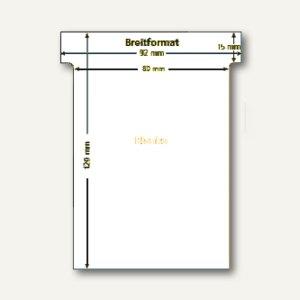 Ultradex T-Karten, blanko, Breitformat, weiß, 100 Stück, 541258