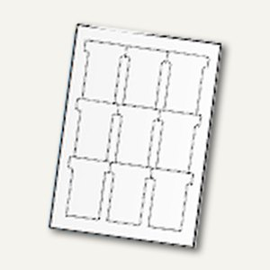 Ultradex T- Karten, Beschr. per EDV, Schmalformat, weiß, 180 Stück, 543358